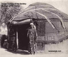 A Karakalpak yurt in the 1930s