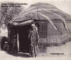 A Karakalpak yurt in the 1930s