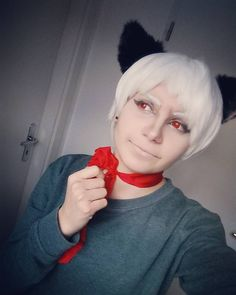 XD I like that everyone in pic is just grey and boring and ew and then there are the bow and the lenses :3 . . . #hetalia#aph#aphetalia#hetaliaprussia#aphprussia#gilbertbeilschmidt#hetaliacosplay#aphcosplay#hetaliaprussiacosplay#aphprussiacosplay#prussiacosplay#prussia#cosplay#crossplay#germancosplay#germancosplayer#animecosplay#anime#manga#otaku#gilbertbeilschmidtcosplay