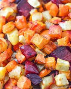 Products We Love : Oven Roasted Sweet Potatoes and Beets using Coconut Oil. Healthy side dish recipes made easy and we love our root vegetable recipes Vegetable Recipes Easy Healthy, Spiral Vegetable Recipes, Vegetable Korma Recipe, Roasted Vegetable Recipes, Vegetable Samosa, Healthy Kids, Healthy Sweets, Healthy Salads, Veggie Side Dishes