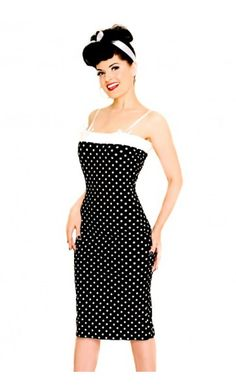 Lolita Girl Mansfield Wiggle dress black white @www.beaudelicious.be