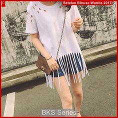 Atasan Wanita Terbaru Model b8 kaos blouse ringri rockin putih - BMGShop