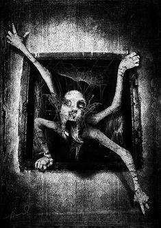 Horror: Blood, Guts n' Gore Arte Horror, Horror Art, Scary Drawings, Dark Artwork, Arte Obscura, Creepy Horror, Creepy Pictures, Macabre Art, Creepy Art