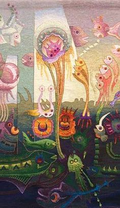 Maximo Laura Tapestry Art, Water World Tapestries for Sale
