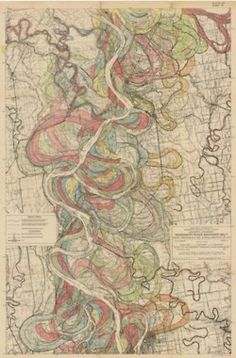 The Mississippi River is an entity that is constantly writhing like a snake. The loops in the river were called Oxbows.