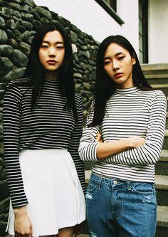 stripes + denim + normcore