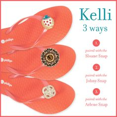 Which way do you take your Kelli Hot Coral #switchflops?