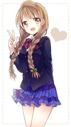 She's a cute anime girl