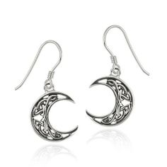 Sterling Silver Celtic Knot Crescent Moon French Wire Earrings Amazon Curated Collection. $18.90