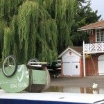 Interesting scene on the river Cam Cambridge, Shed, Outdoor Structures, River, Gallery, Outdoor Decor, House, Instagram, Home Decor