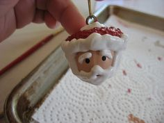 Painted Acorn Santa Ornaments ~ A Picture Tutorial
