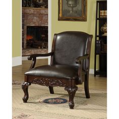 @Overstock.com - Antique Dark Cherry Accent Chair - This solid-wood accent chair features a sophisticated dark cherry finish, which complements the bi-cast leather brilliantly. 275 http://www.overstock.com/Home-Garden/Antique-Dark-Cherry-Accent-Chair/4734113/product.html?CID=214117 $275.04