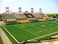 Built 1928 - Closed/Demolished 2012 Architect - unknown .... Ivor Wynne Stadium, was a Canadian football stadium located in Hamilton, Ontario. The stadium was originally constructed in 1928 & was home to the Hamilton Tiger Cats, a CFL (Canadian Football League) team. Stadium had seating for 29,600 at the time of its demolition. Football Stadiums, College Football, Hamilton Ontario Canada, Concert Venues, Canadian Football League, Grey Cup, Baseball Park, Sports Stadium, Playgrounds