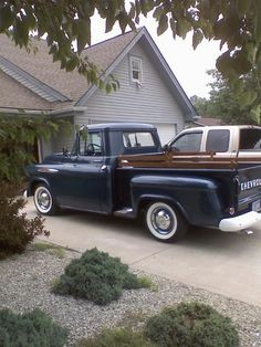 1957 chevy trucks short bed ideals | Thread: Ole Blue :: 1957 Chevrolet 3100 (short bed, stepside) 57 Chevy Trucks, Chevy Pickups, Tow Truck, Old Trucks, Chevrolet 3100, Vintage Trucks, Classic Trucks, Cars And Motorcycles, Hot Rods