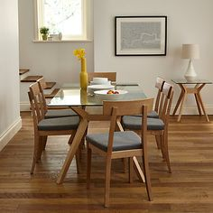 Buy John Lewis Akemi Dining Funiture Range from our Dining Room Furniture Ranges range at John Lewis. 6 Seater Dining Table, Dinning Chairs, Dining Table Design, Dining Room Furniture, Dining Area, Kitchen Dining, New Home Wishes, Dining Table Online, Home Accessories