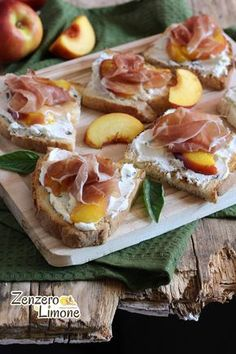 Fluted with goat - Clean Eating Snacks Antipasto, Brunch, Italian Appetizers, Gourmet Appetizers, Clean Eating Snacks, Summer Recipes, Street Food, Finger Foods, Italian Recipes