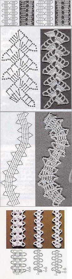 Брюггское кружево. Н Crochet Blanket Edging, Crochet Lace Edging, Crochet Motifs, Crochet Borders, Irish Crochet, Crochet Shawl, Crochet Flowers, Crochet Stitches, Ideas