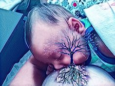 Turning breastfeeding into art.