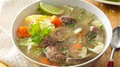 Caldo de Res - Mexican Beef Soup - World Recipes Collection Mexican Beef Soup, Mexican Dishes, Mexican Food Recipes, Ethnic Recipes, Mexican Buffet, Mexican Cooking, Beef Soup Recipes, Cooking Recipes, Easy Recipes