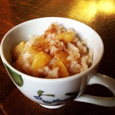 Perfect Peach Rice Pudding (Primal, vegan, paleo and gluten-free) | The Little Things