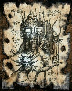 casa maligna by MrZarono Hp Lovecraft, Lovecraft Cthulhu, Demon Book, Call Of Cthulhu Rpg, Dark Artwork, Occult Art, Gothic Art, Book Of Shadows, Necromancer