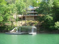 VRBO.com #155617 - 'Happyhour', Norris Lake, Cov Dock W/Slide, by Deerfield, Lg Fire Pit, Sleeps 30