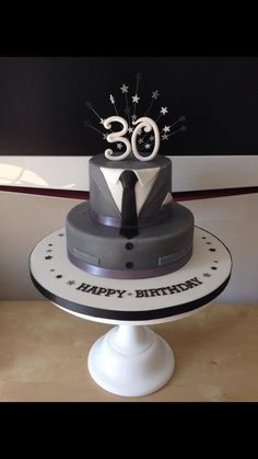 Male 30th birthday cake