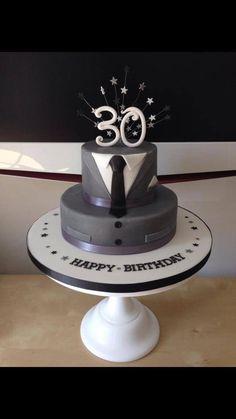 Male 30th birthday cake