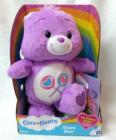 Care-Bears-Purple-Share-Hasbro-Lollipop-Belly-Badge-includes-DVD