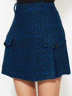 Tweed Mini Skirt with Pockets by Anna Sui at Gilt