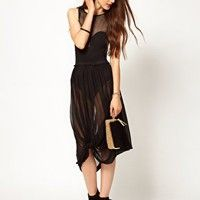JNBY Knotted Sheer Skirt at asos.com