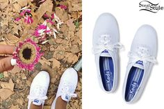 photo posted by Ariana Grande on instagram she is wearing: Keds Chamion Originals $40