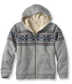Don't need it, cuz I just got a new all wool sweater from LLBean. But I want it! This premium fleece-lined hoodie has been redesigned with new styling details and colors. lambswool shell for superior softness and greater durability. Plush sherpa-fleece lining insulates...