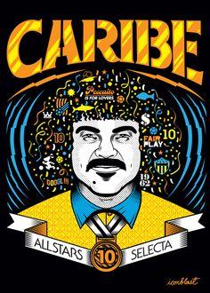 Tribute to Pibe Valderrama by Iconblast Carlos Valderrama, Victor Ortiz, Flyknit Lunar, Trx, Porsche Logo, Street Art, Logos, Soccer, Blue And White