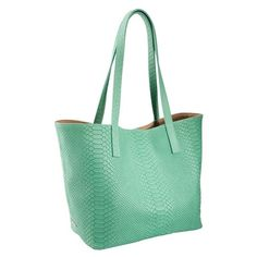 Embossed Teddie Python Tote: Make sure you have the perfect bag to bring to all the great events!