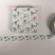 Boxed Washi Tape Nature Blue and Purple by ThePurpleOnionBooks