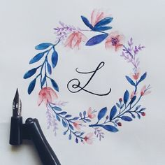 Let love reign.Let love reign. Wreath Watercolor, Watercolor Flowers, Watercolor Paintings, Easy Watercolor, Art Flowers, Painting Inspiration, Art Inspo, Freetime Activities, Logo Fleur
