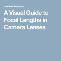 A Visual Guide to Focal Lengths in Camera Lenses