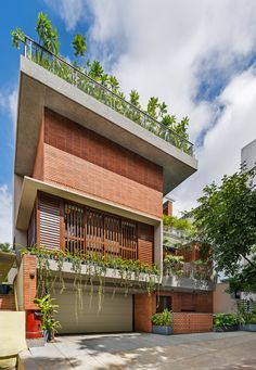 Village House Design, Kerala House Design, Bungalow House Design, House Front Design, Village Houses, House Architecture Styles, Brick Architecture, Beautiful Villas, Beautiful Homes