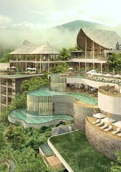 Wanna Jungle Pool & Bar / The Kayon Jungle Resort. Wanna Jungle Pool & Bar / The Kayon Jungle Resort. Pool Bar, My Pool, Architecture Design, Tropical Architecture, Bali Resort, Beach Resorts, Hotels And Resorts, Maui Hotels, Top Hotels