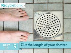 A typical shower head uses 2 gallons of water per minute. Try to cut down your morning shower to save money and water.