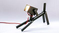 Luminária cachorro negro
