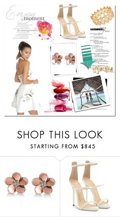 """Summer white halter dress"" by petitedressing on Polyvore featuring Allurez, Giuseppe Zanotti, INC International Concepts, GALA, summerstyle, polyvorecontest and polyvorefashion"