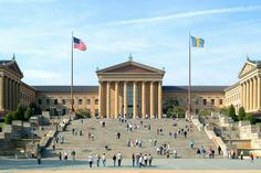 Famous east steps of the Philadelphia Museum of Art - Everyone should have this on their bucket list! #2010solutions