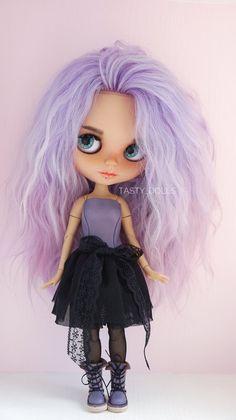 Items similar to OOAK Custom Blythe Doll -Eva- blythe ooak mothers day gift wedding decor graduation gift mother gift harry potter on Etsy Pretty Dolls, Beautiful Dolls, Ooak Dolls, Blythe Dolls, Piercings, Doll Home, Kawaii Doll, Gothic Dolls, Little Doll
