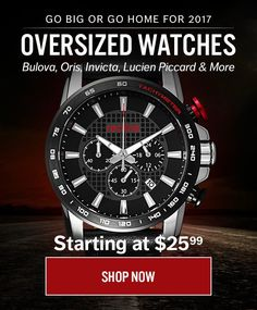 Oversized watches are this years thing. http://discountwatchstores.com/go-big-with-world-of-watches-oversized-watches