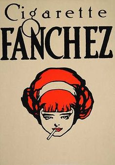 1913 Cigarette Fanchez Woman Smoking Perley Mini Poster Original | eBay