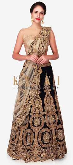 Navy blue semi-stitched lehenga in velvet embroidered with heavy zardosi work only on Kalki Navy Blue Lehenga, Zardosi Embroidery, Zardosi Work, Indian Bridal Lehenga, Beautiful Saree, Woman Clothing, Indian Designer Wear, Wedding Attire, Salwar Kameez