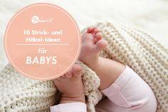 So lange die Temperaturen noch kalt sind und die Strick- und Häkelnadeln heiß, wollen wir dich inspirieren, handgemachte Schätze für die ganz Kleinen zu kreieren. Ob für die Babys der Liebsten oder für den eigenen Schatz - hier findest du 10 Anleitungen und das passende Material zum Behalten und Verschenken! Knitting, Cover, Baby Knitting, Knitting And Crocheting, Mantas Crochet, Baby Favors, Tricot, Breien, Stricken