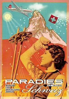 """Plakatausstellung """"Paradies Schweiz"""" in Zürich Museum für Gestaltung Zürich stellt Plakate zum Schweiz Tourismus aus – Reisenews Online"""